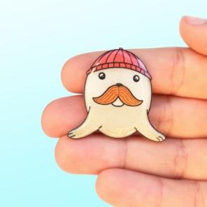 Mr. Seal brooch
