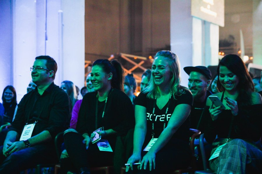 Our client listening to our pitch, photo by Atte Mäkinen